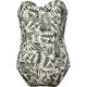 TAVIK Black Palm Womens Corset Swimsuit