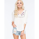 FULL TILT Embroidered Womens Peasant Top