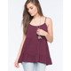 SOCIALITE Tiered Womens Tunic Tank