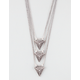 FULL TILT Three Row Triangle Necklace