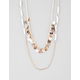 FULL TILT Two Row Coin Bead Long Necklace