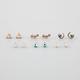 FULL TILT 6 Pairs Star/Moon/Triangle Earrings