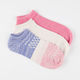 FULL TILT 3 Pairs Ombre Super Soft Womens No Show Socks