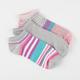 FULL TILT 3 Pairs Stripe Super Soft Womens No Show Socks