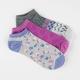 FULL TILT 3 Pairs Ditsy Super Soft Womens No Show Socks