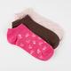 FULL TILT 3 Pairs Chevron Super Soft Womens No Show Socks