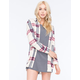 FULL TILT Plaid Womens Boyfriend Flannel Shirt