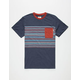 VANS Dunbar Striped Pocket Mens T-Shirt