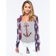 FULL TILT Americana Womens Boyfriend Flannel Shirt
