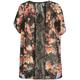 FULL TILT Floral Print Lace Back Girls Kimono