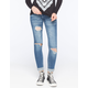 ALMOST FAMOUS Double Roll Womens Skinny Jeans