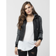 FULL TILT Faux Leather Marled Womens Bomber Jacket