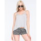 BOZZOLO Lattice Back Womens Tank