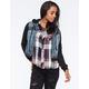 HIGHWAY Womens Hooded Denim Jacket