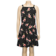 FULL TILT Hi Neck Floral Girls Skater Dress