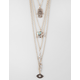 FULL TILT 3 Row Hamsa/Elephant/Evil Eye Necklace