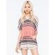 FULL TILT Stripe Womens Poncho Sweater