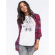 FULL TILT Large Plaid Womens Boyfriend Flannel Shirt