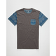 BLUE CROWN Ancient Forms Mens Pocket Tee