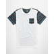 BLUE CROWN New Tribe Mens Pocket Tee