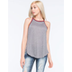 H.I.P. Solid Womens Ringer Tunic Tank