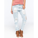 ALMOST FAMOUS Distressed Rolled Cuff Womens Skinny Jeans