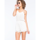 FLYING TOMATO Battenburg Womens Romper