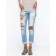 VANILLA STAR Slouch Destroyed Womens Boyfriend Jeans