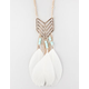 FULL TILT Chevron Feather Pendant Necklace