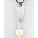 FULL TILT 3 Pack Yin Yang Choker/Flower/Peace Necklaces