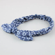 FULL TILT  Floral Denim Knot Headwrap