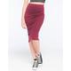 FULL TILT Solid Ribbed Midi Skirt