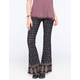FULL TILT Border Print Womens Flare Pants