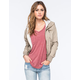 FULL TILT Twill Womens Bomber Jacket
