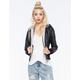 FULL TILT Faux Leather Womens Bomber Jacket