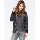 FULL TILT Faux Leather Plaid Womens Bomber Jacket
