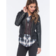 FULL TILT Faux Leather Hooded Womens Bomber Jacket