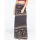 FULL TILT Double Border Print Maxi Skirt