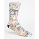 ODD SOX Cats Mens Crew Socks
