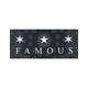 FAMOUS STARS & STRAPS Paisley Tri Star Sticker