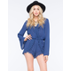 BLU PEPPER Lace Trim Womens Romper
