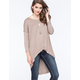BLU PEPPER Womens V-Neck Tunic Sweater