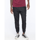 CRASH Black Knit Denim Mens Jogger Pants