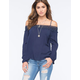 BLU PEPPER Cold Shoulder Womens Top