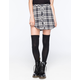 FULL TILT Button Front Plaid Skirt