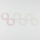 FULL TILT 3 Pairs Seed Bead Twist Hoop Earrings