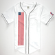 CIVIL Down Flag Mens Baseball Jersey