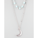 FULL TILT 2 Row Beaded/Moon Necklace