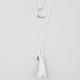 FULL TILT Celestial Tassel 2 Row Necklace