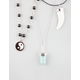 FULL TILT 3 Row Yin Yang Horn Necklace